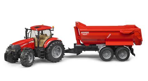 bruder traktor case puma cvx   przyczepa krampke