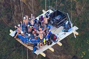 Hot Tub Suspended From A Bridge In Switzerland Picture