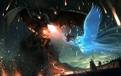 Dragon Dark Epic Fantasy Battle Wallpapers Badass