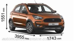 Ford Ka Active : dimensions of ford cars showing length width and height ~ Melissatoandfro.com Idées de Décoration