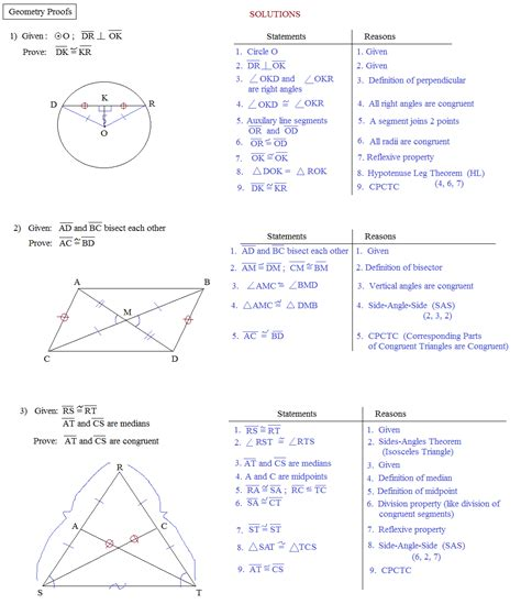 Math Plane  Proofs & Postulates 1 Worksheet