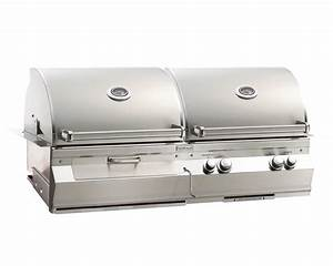 Kohle Gasgrill Kombination : fire magic aurora a830i 46 inch built in natural gas and charcoal combo grill with rotisserie ~ Frokenaadalensverden.com Haus und Dekorationen