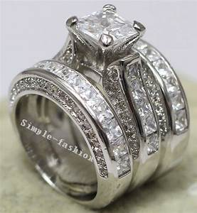 online get cheap white gold engagement ring princess cut With princess cut wedding ring sets cheap