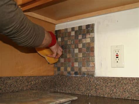 how to install a kitchen backsplash installing kitchen tile backsplash hgtv