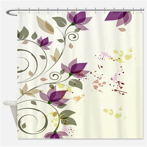 Purple Flower Shower Curtain by Green Purple Shower Curtains Green Purple Fabric Shower