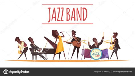 Jazz Band Cartoon Background