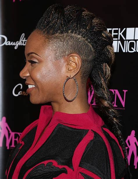 braided hairstyles  shaved sides  faux undercut