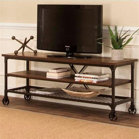 cramco  craft industrial tv stand  open shelves