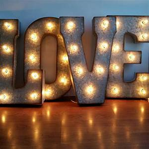 love 21 large metal marquee letters wedding letter With large metal letters with lights