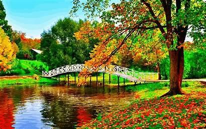 Paradise Country Autumn River Animation Deviantart