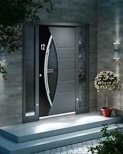 Renforcer Porte D Entrée : portes d 39 entr e sur mesure aluminium inotherm design ~ Premium-room.com Idées de Décoration