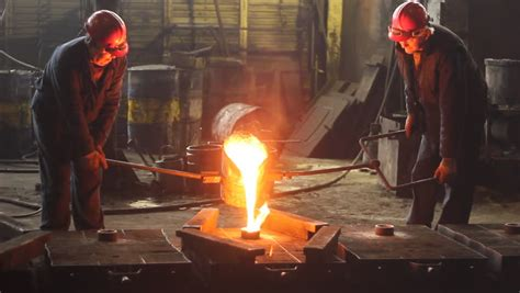 Melting Iron in the Foundry, Stock Footage Video (100% ...