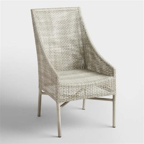gray  weather wicker dining chairs