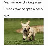 Never Drinking Again Meme