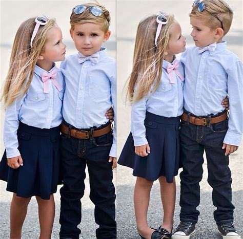 14 best images about Matching outfits for siblings on Pinterest | Our kids Oscar de la Renta ...