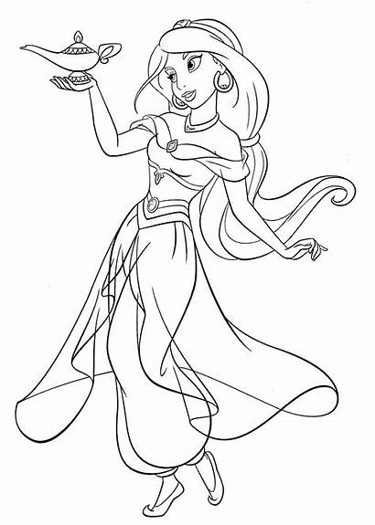 Princess Printable Jasmine Coloring Disney Pages Adults