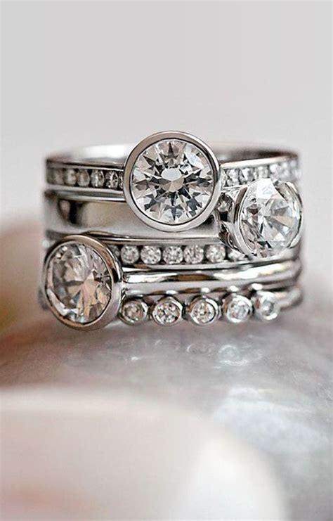 19 Gorgeous Stacked Wedding Rings. Plain Silver Bangle. Lab Grown Emerald. Libra Rings. 24 Karat Diamond. Jewelry Bands. Turquoise Wedding Rings. Woman Bracelet. Polished Sapphire