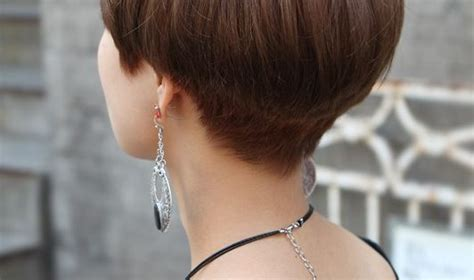 Back View Of Cute Short Japanese Haircut