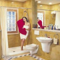 How to remodel a small bathroom the family handyman for 5 foot by 8 foot bathroom design