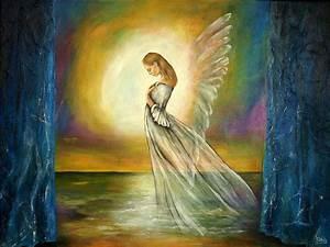 Gemalte Bilder Auf Leinwand : gemalte engelbilder himmlisch auch als kunstdrucke ~ Frokenaadalensverden.com Haus und Dekorationen