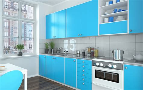light blue kitchen accessories 27 blue kitchen ideas pictures of decor paint cabinet 6958