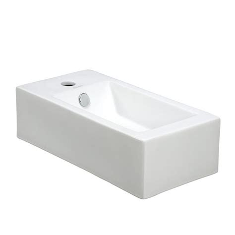 Rectangle Bathroom Sink by Elanti Wall Mounted Right Facing Rectangle Bathroom Sink