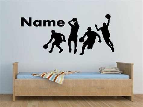 32932 wall decals for bedroom personalised basketball players wall sticker boys bedroom