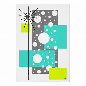 QuotLacunaquot Mid Century Modern Style Artwork Poster Zazzle