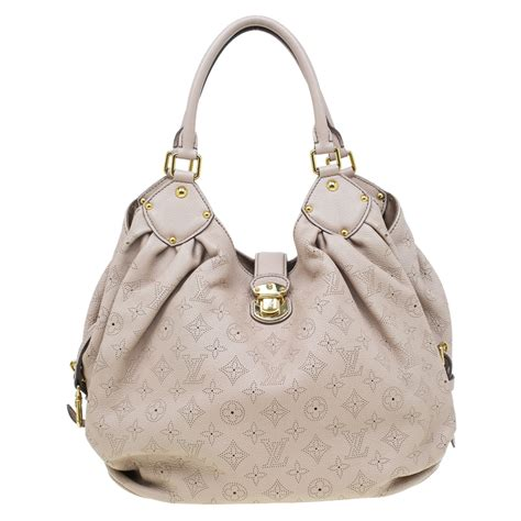 louis vuitton beige monogram mahina leather large hobo