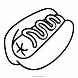 Dog Coloring Hotdog Sausage Bun Icon Mustard Iconfinder sketch template