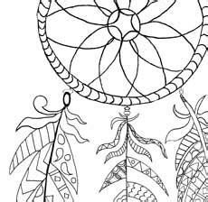 printable dream catcher coloring page  graphics