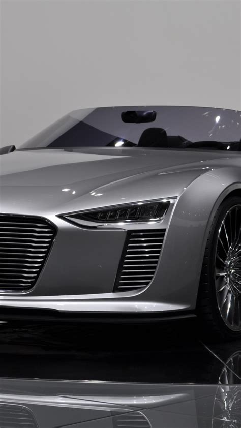 wallpaper audi  tron spyder electric cars silver