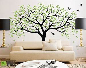 Large tree wall decals trees decal nursery tree wall decals for Large wall stickers
