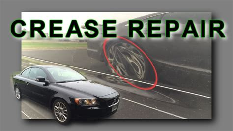 crease dent removal mn door crease repair  volvo