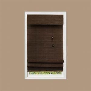 home decorators collection espresso multi weave bamboo With 26 inch roman shade