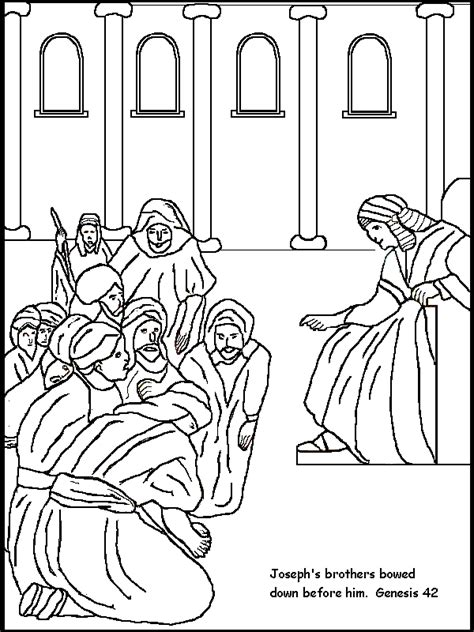 coloring pages joseph forgives  brothers coloring home