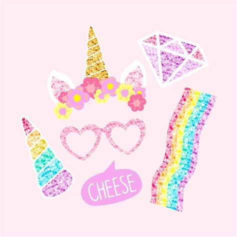 Free unicorn icons in wide variety of styles like line, solid, flat, colored outline, hand drawn and many more such styles. Cute unicorn photo booth party props vector   Free vector ...