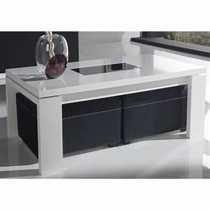 Table Basse Avec Pouf Pas Cher : table basse avec rangement et pouf le bois chez vous ~ Teatrodelosmanantiales.com Idées de Décoration