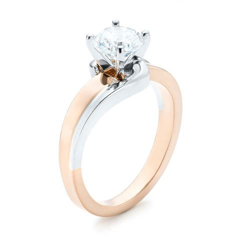 custom two tone wrap engagement ring 102588