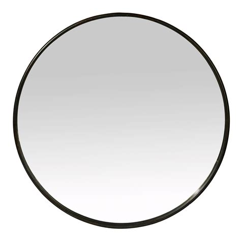 tapis de cuisine miroir rond mural en fer noir patiné boudoir