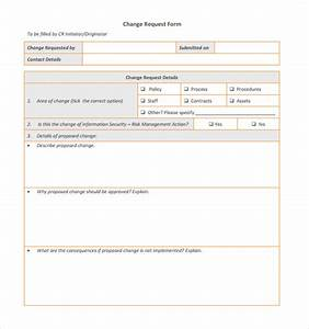 Sample change request template 9 free documents in pdf for Documents for change management