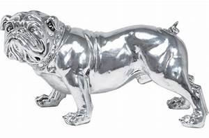 Statue Chien Design : statue bulldog kare design argent raphi statue design pas cher ~ Teatrodelosmanantiales.com Idées de Décoration