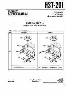 Sony Hst-201 Service Manual