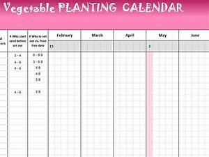 Project Management Schedule Template Vegetable Planting Calendar My Excel Templates