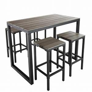 Table Haute Bois Metal : r alisation table tapas ~ Teatrodelosmanantiales.com Idées de Décoration