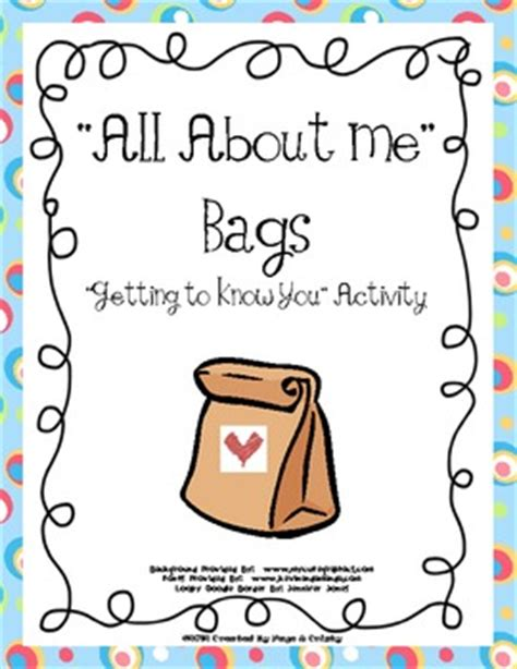 getting to know you preschool activities all about me bags back to school by kindergarten squared 808