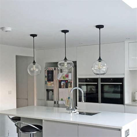clear glass pendant lights for kitchen island deco glass pendant light by unique s co 9805