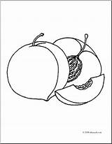 Coloring Peaches Fruit Realistic Clip Peach Clipart Seed Abcteach Pages Sketch Getdrawings Template sketch template