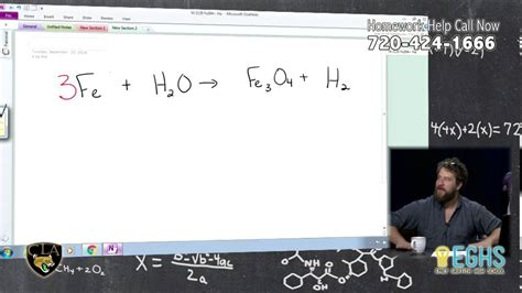 iron water rust equations chemistry balancing molecules science