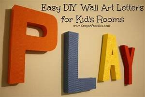 wall art ideas design play colorfull letter wall art With decorative fabric letters for walls
